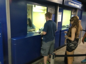 Jeremy Buying His Metro Ticket