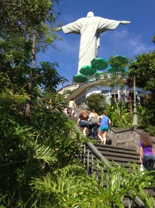 Climbing to See the Statue
