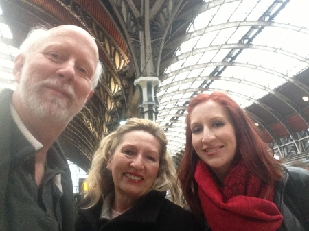 Tired but safely arrived at Paddington Station, London